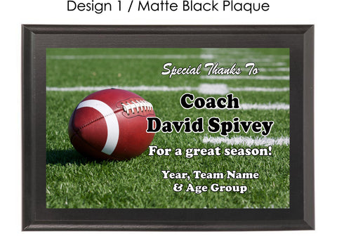 Football Coach's Plaque - Generic