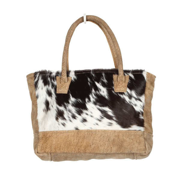 myra bag cowhide and leather bag