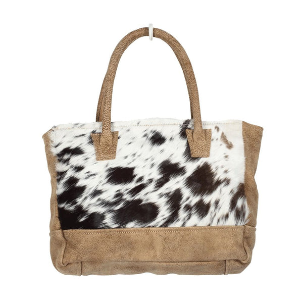 myra bag leather and cowhide purse