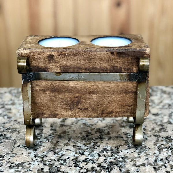 wood double sugar mold candle