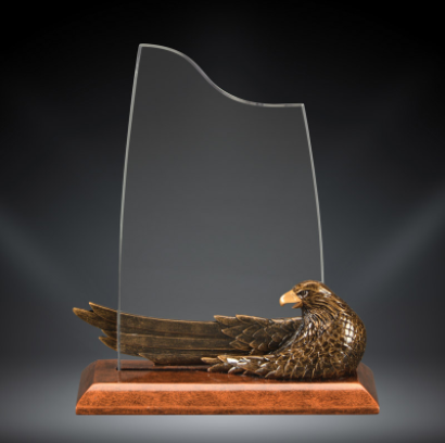 Eagle acrylic award engraved.