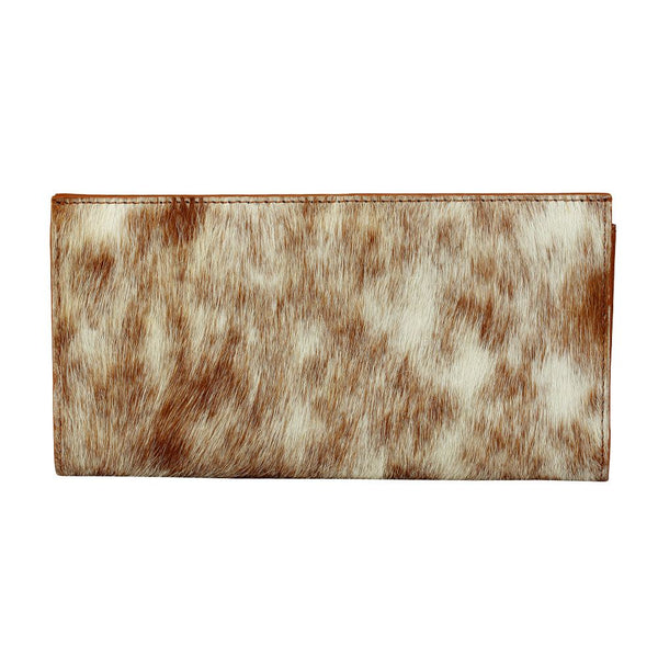 myra bag white and brown cowhide wallet