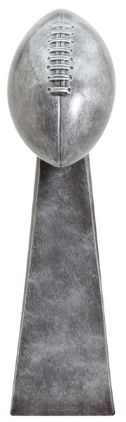 Football Trophy - Silver Standing