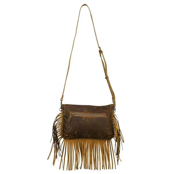Myra bag fringe edge leather crossbody