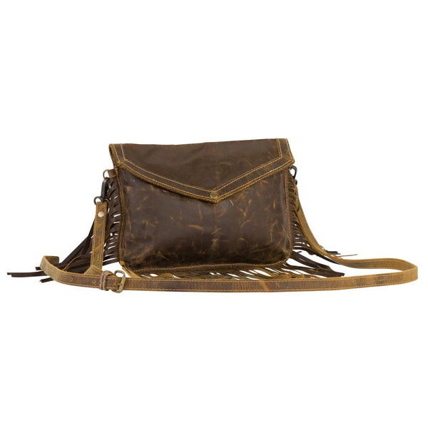 myra bag fringe leather purse