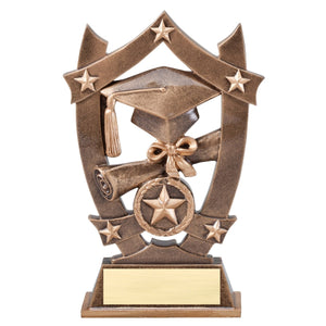 graduation resin trophy