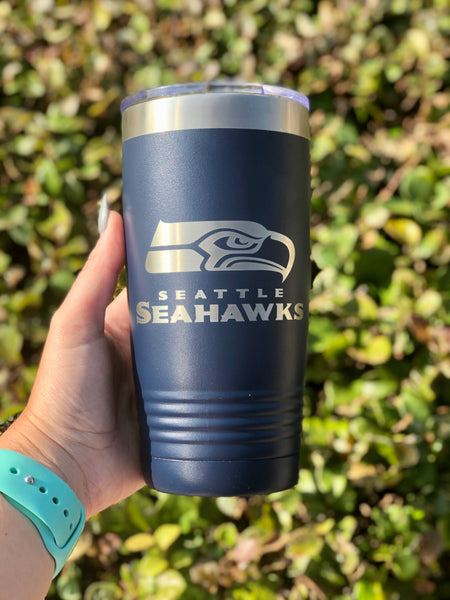 20 oz Ribbed Tumbler Custom Engraved