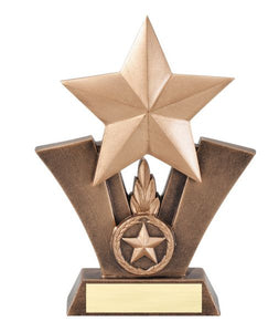 Gold shooting star trophy.