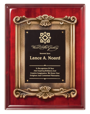Plaque - Rosewood Scroll