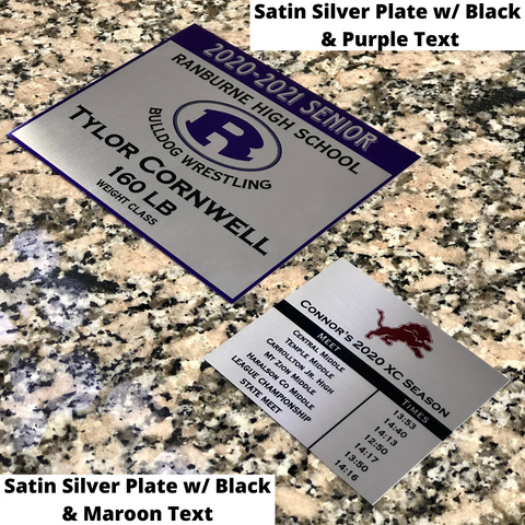 Metal Plate - Full Color Custom Engraved
