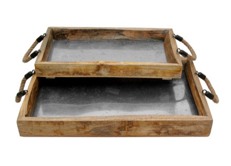 Tray - Rustic Wood