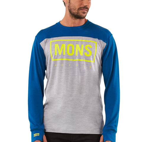 Mons Yotei Tech LS Grey Marl / Oily Blue