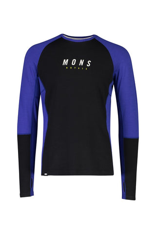 Mons Mens Olympus 3.0 LS Ultra Blue / Black Long Sleeve Top