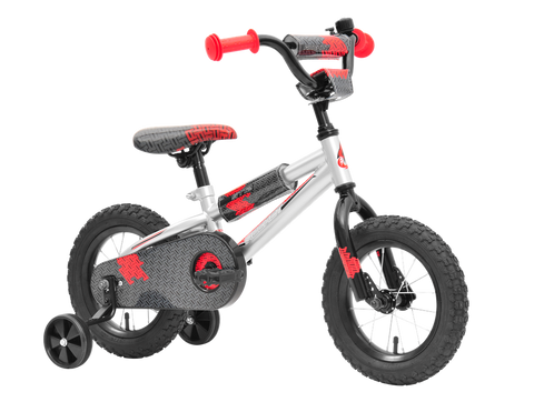 ROCKET ST12 KIDS BIKE SILVER RED