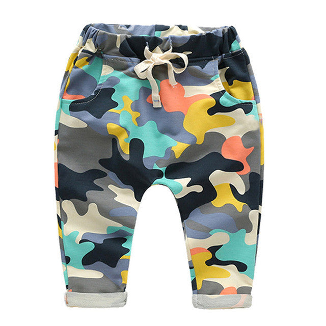 Multi-Colored Camo Joggers