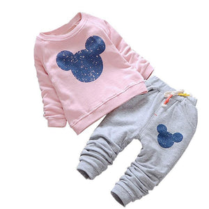 Mouse Ears Sweater and Sweat Pants Set