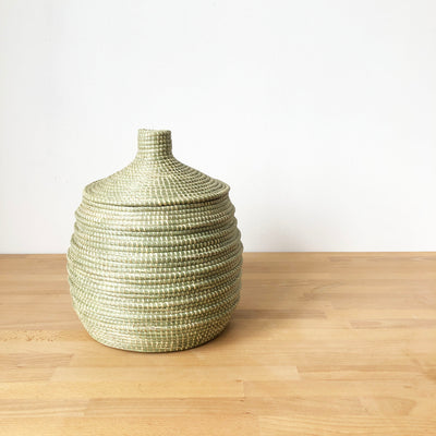 Wave Lidded Basket