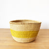 Yellow Stripe Storage Basket