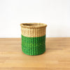 Waste Basket: Green Dipped