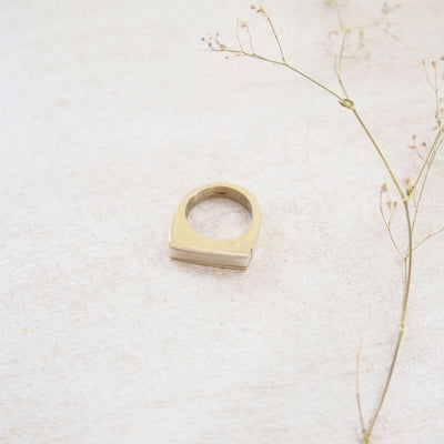White Bone Bar Ring