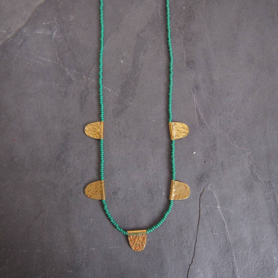 Mwezi Necklace: Green
