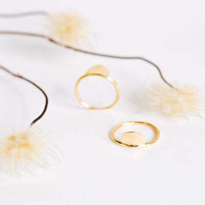 Moon Brass Stacking Rings