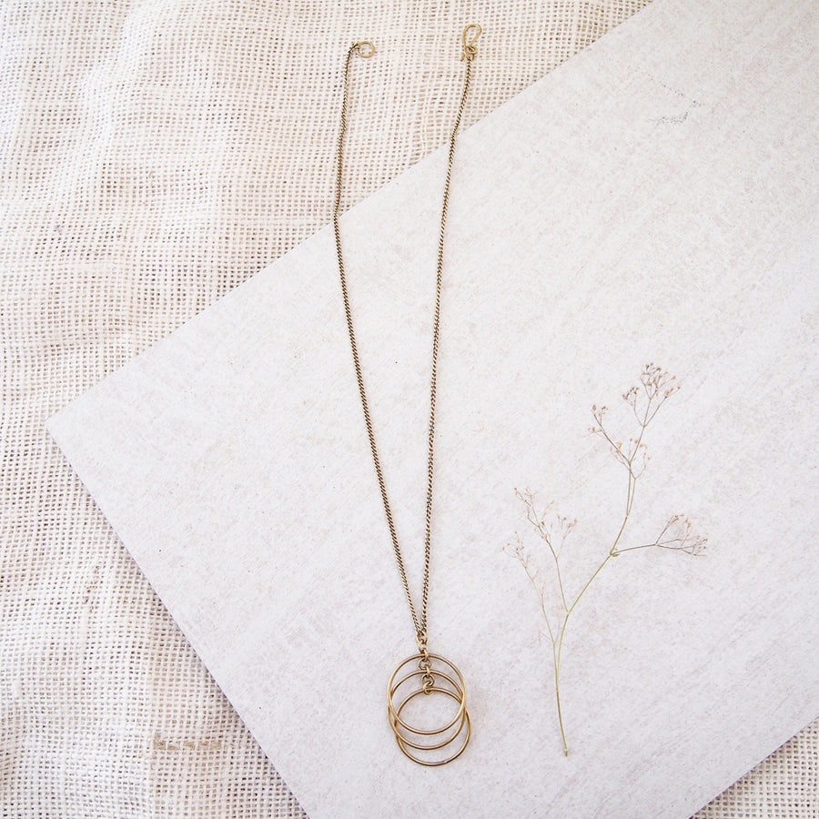 Falling Circles Necklace