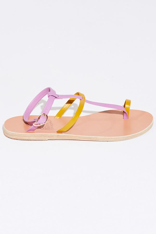 ANTHI SANDAL IN YELLOW/VIOLET