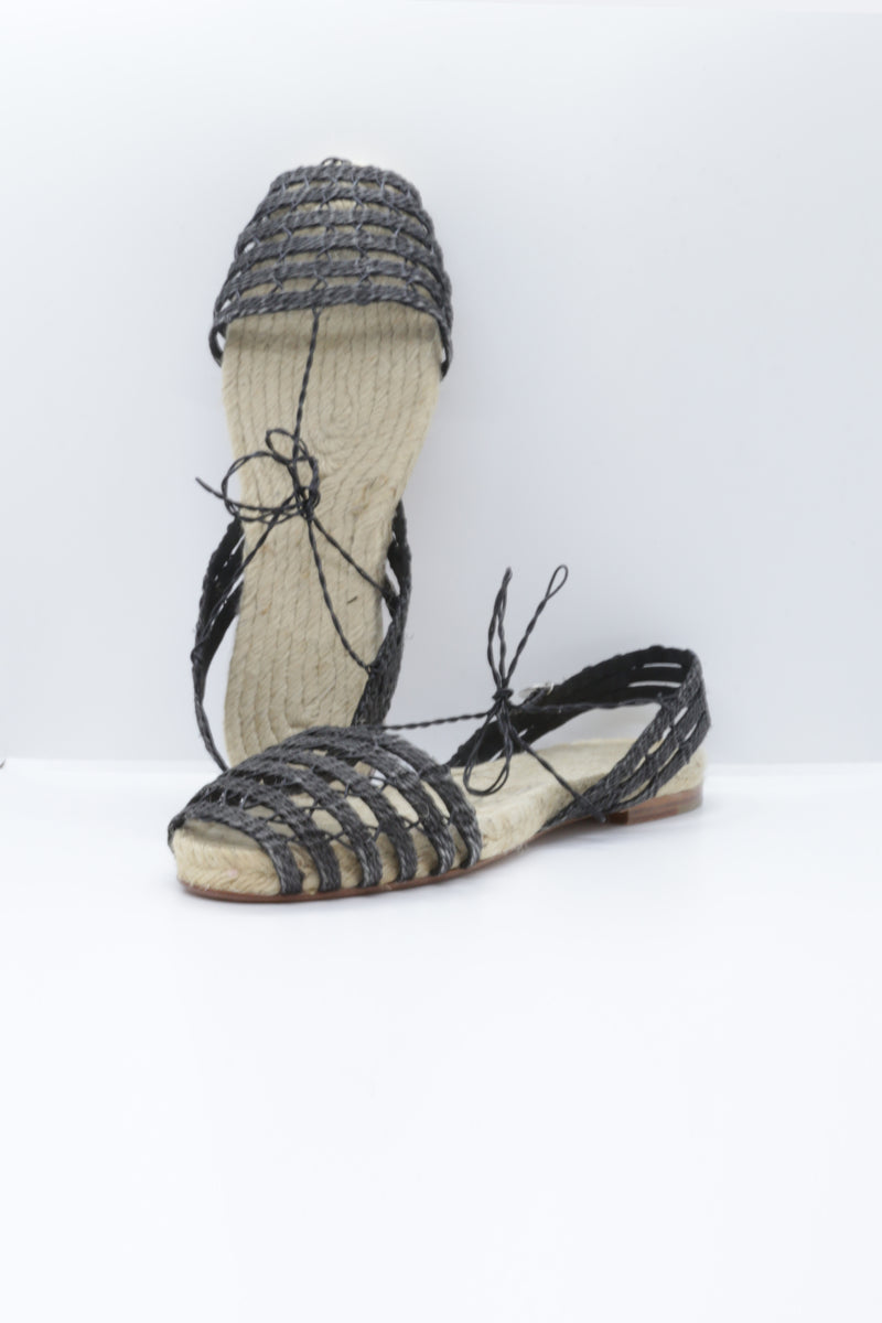 Ball Pages Calada Espadrille in black.