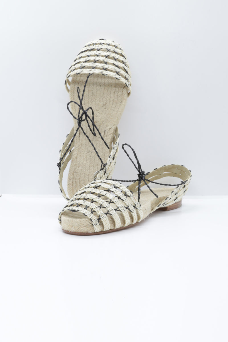 Ball Pages Calada Espadrille in natural and black.