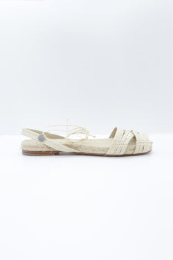 Ball Pages Double Cross Espadrille in natural.