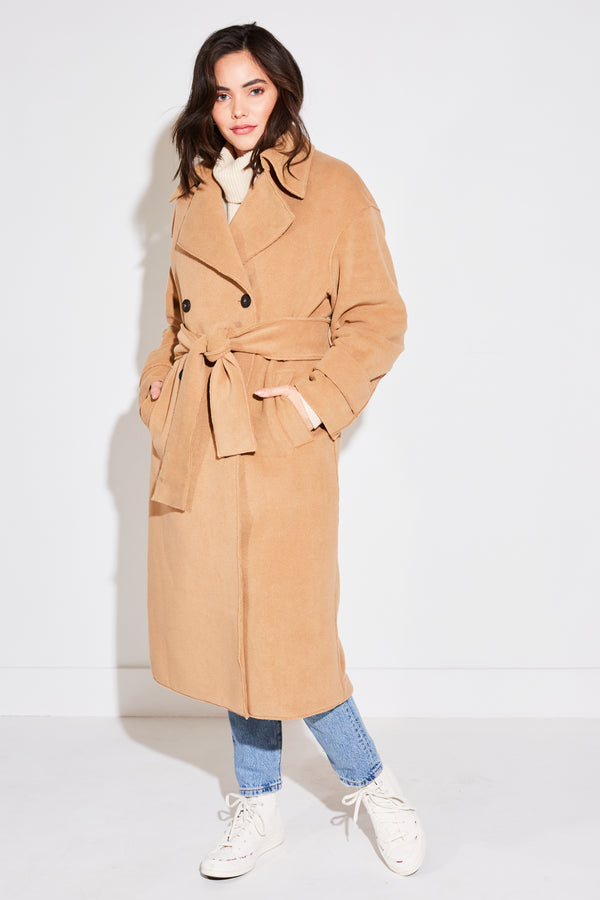 WOMEN'S OVERSIZED TRENCH COAT IN TAN