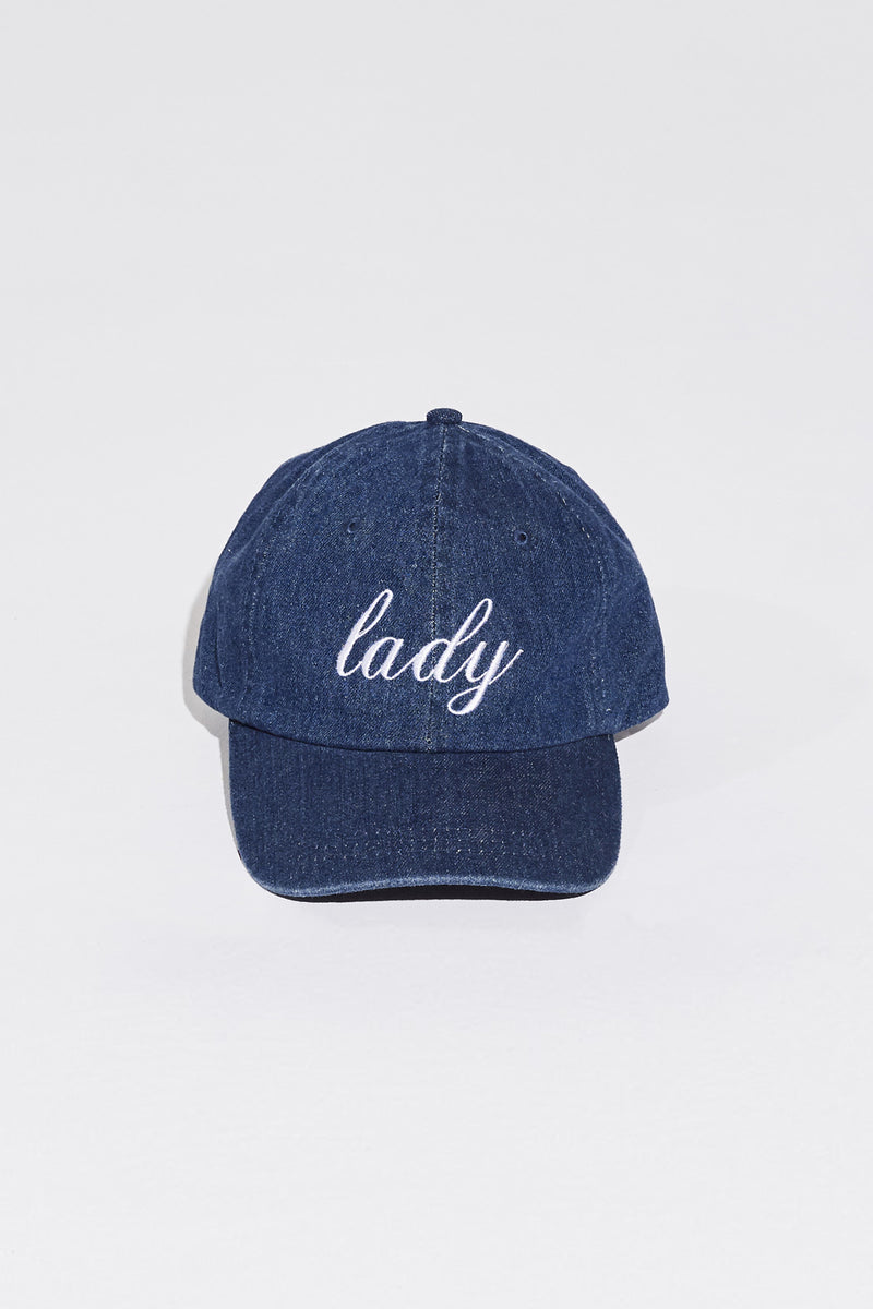 LADY CAP IN DARK DENIM/WHITE