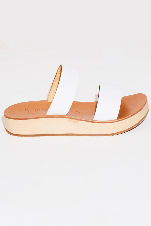 K. Jacques Sibel Platform in pul blanc.
