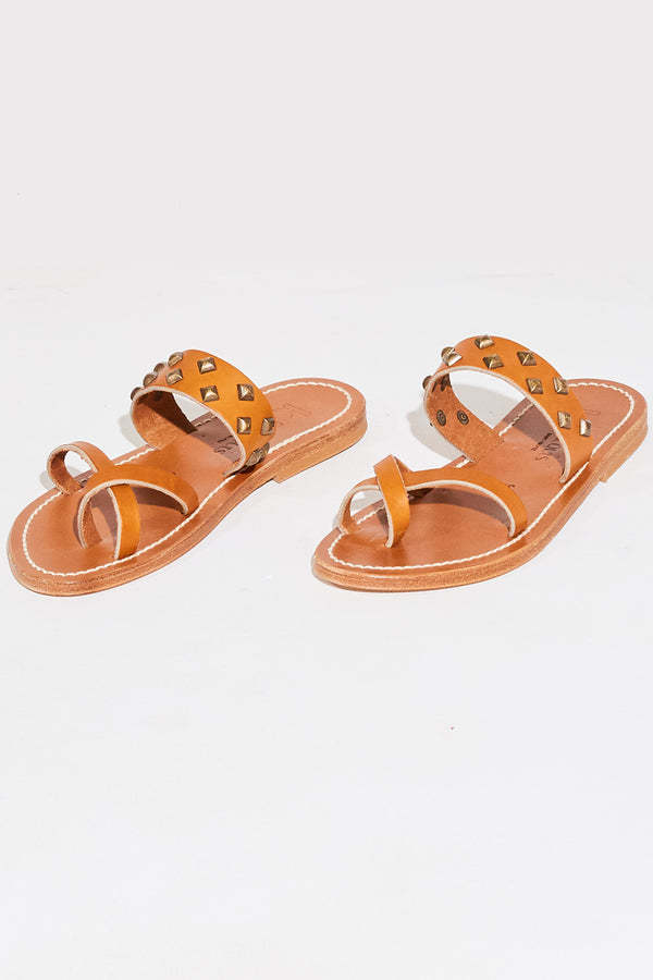 K. Jacques Tonkin Pyr Sandals in Natural/Bronze.