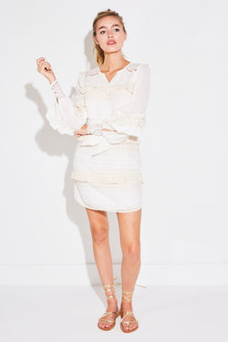SUKI MINI PARTY DRESS IN WHITE
