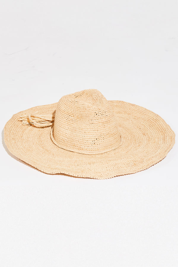 JANE WIDE BRIMMED SUNHAT IN NATURAL