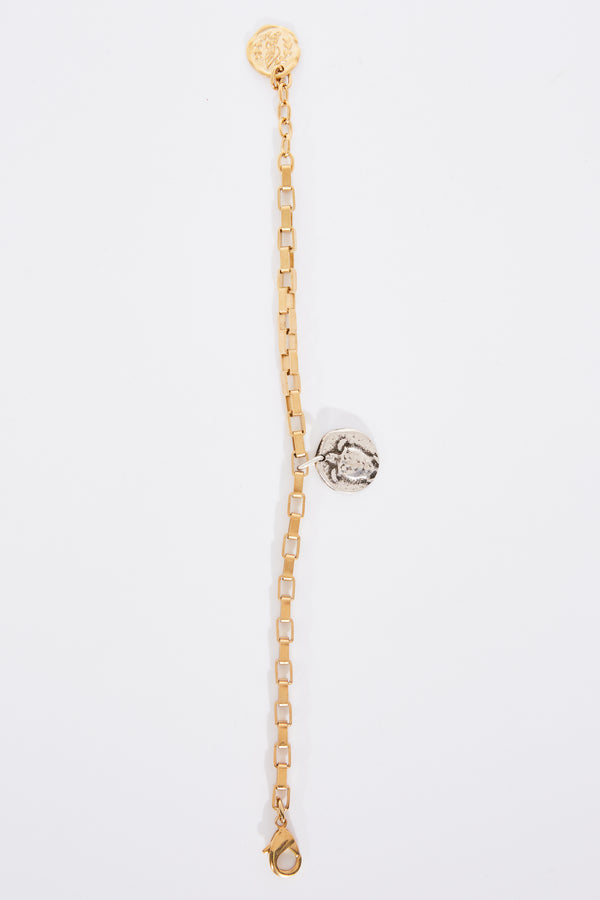 Ancient Greek and Lucy Folk Turtle Anklet in Gold.