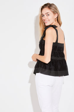 EVIE TOP IN NOIR