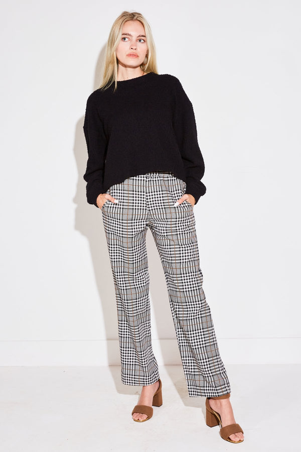 ANKLE TROUSER IN WHITE PLAID