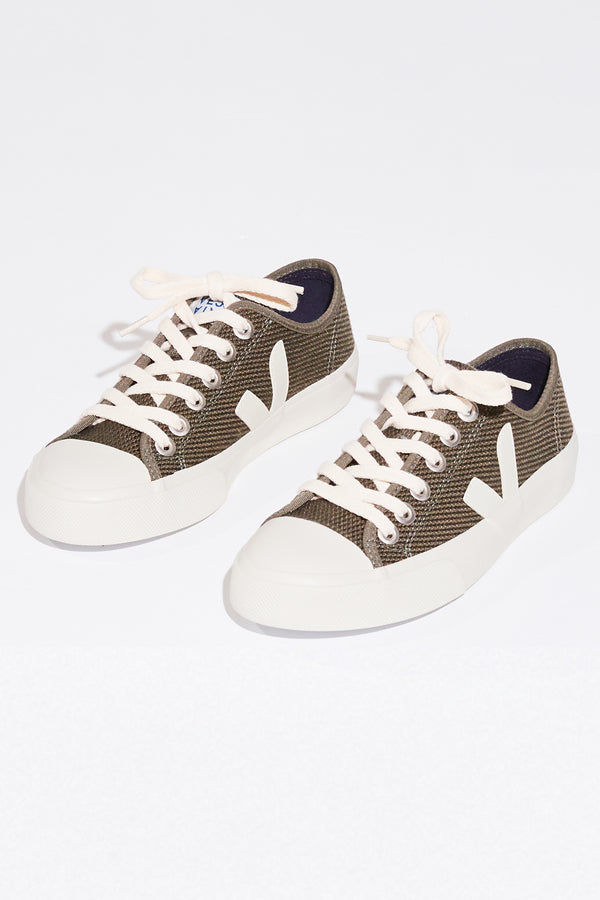 Veja Wata canvas sneakers in olive pierre.