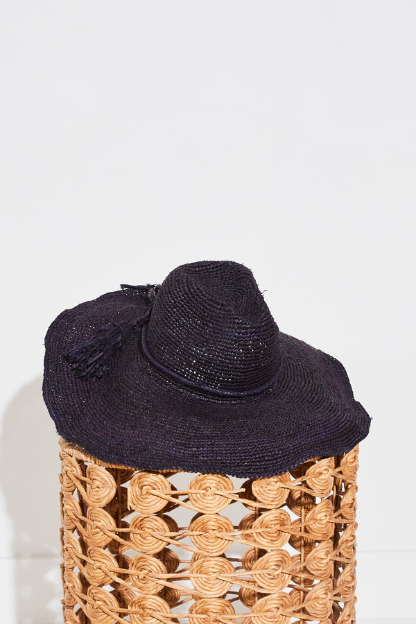 Mar y Sol Jane Wide Brimmed Sunhat in Navy.