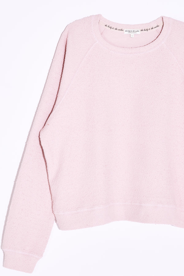 the lady and the sailor Brentwood Sweatshirt in Rose Boucle.