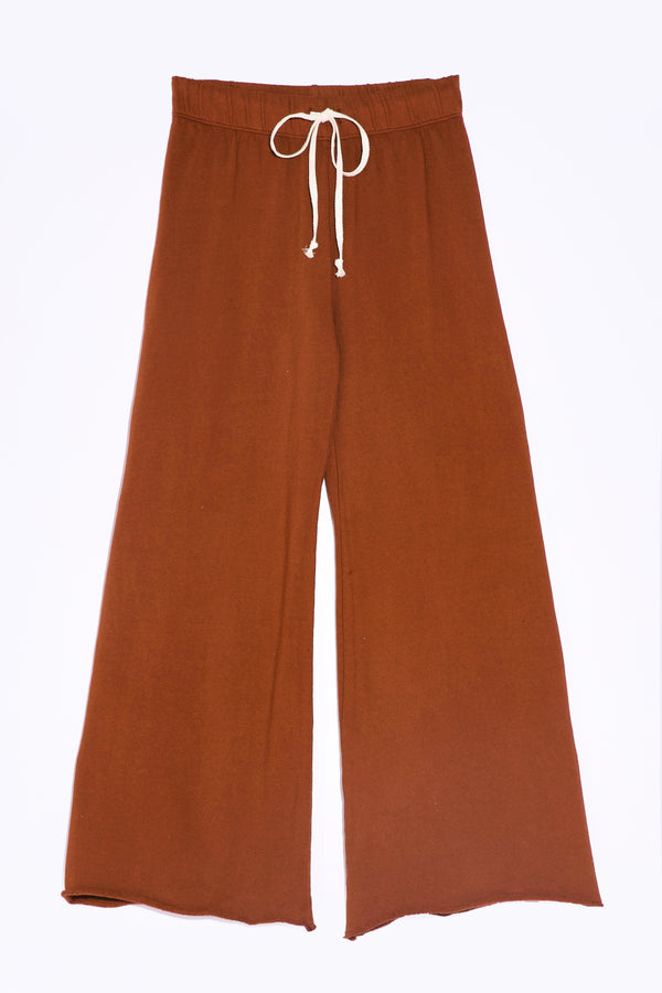 the lady and the sailor French Flare Pant in Vanilla Organic Cotton.