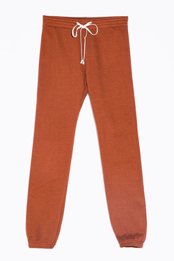 the lady and the sailor Full Length Vintage Sweatpant in Copper Fleece.