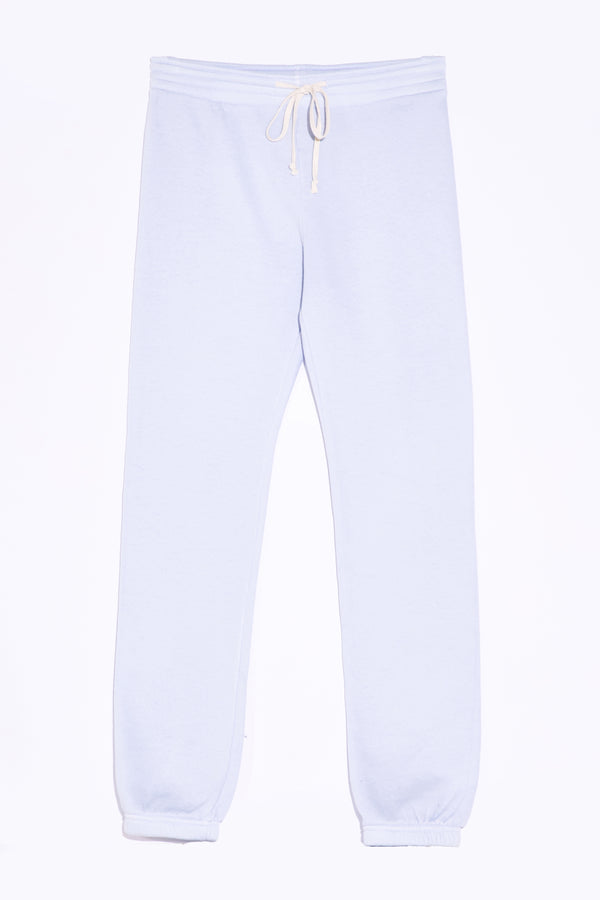 the lady and the sailor Full Length Vintage Sweatpant in Powder Blue Fleece.