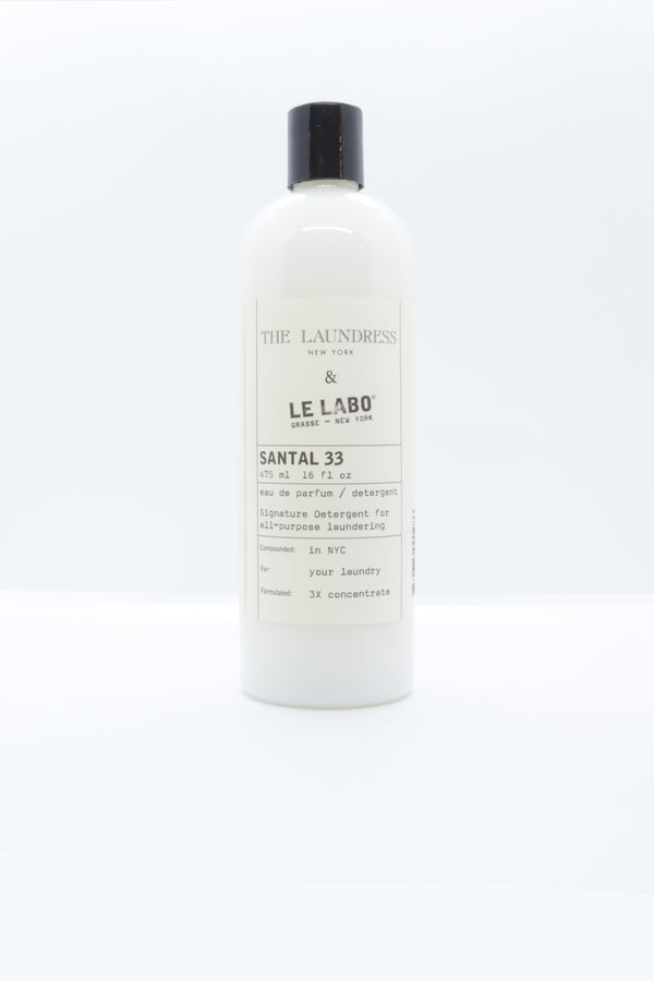 The Laundress x Le Labo Detergent in santal 33.