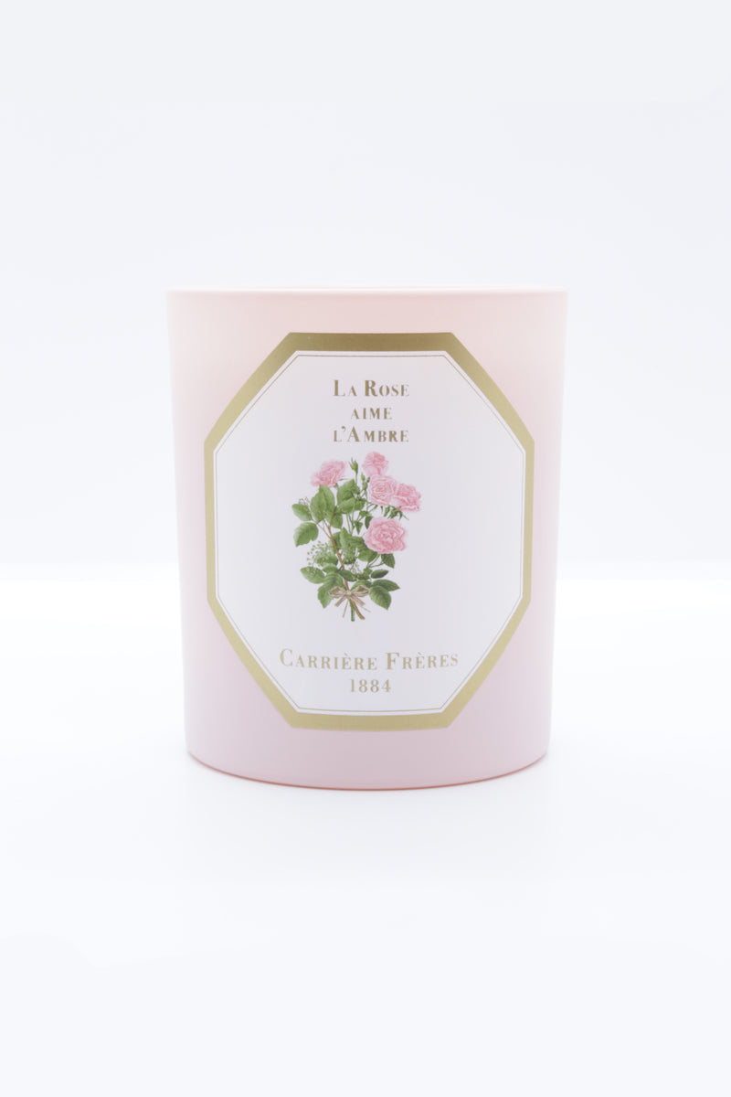 Carriere Freres Candle in la rose aime la menthe.