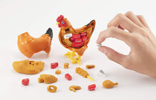 Load image into Gallery viewer, MegaHouse Chicken Anatomy 3D Puzzle Organs Bones Cuts Game Japanese Version