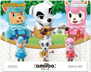 Nintendo Switch Animal Crossing Cyrus K.K. Slider Reese amiibo Set